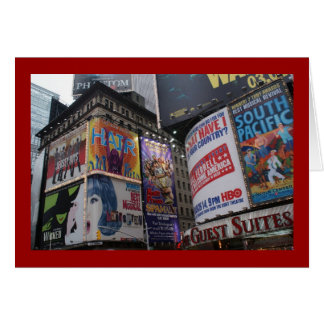 Theatre District - Times Square Stationery Note Card