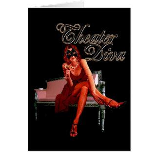 Theatre Diva Collage Card