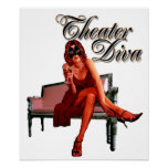 Theatre Diva Collage Poster