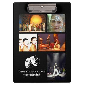 Theatre Drama Club Custom Photo Collage Clipboard