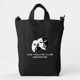 Theatre Drama Club Masks Custom Thespian Name Duck Bag