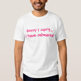 Theatre Excuse Tee Shirts