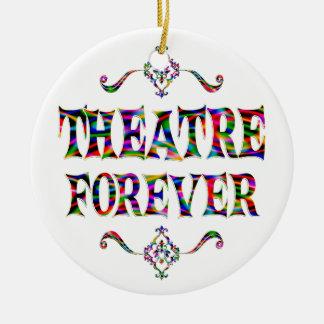 Theatre Forever Ceramic Ornament