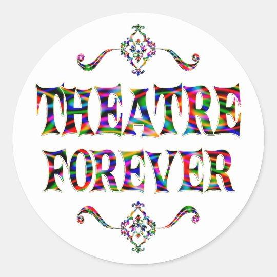 Theatre Forever Classic Round Sticker