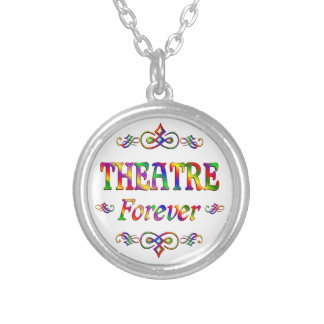 Theatre Forever Round Pendant Necklace
