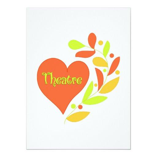 Theatre Heart Invitation