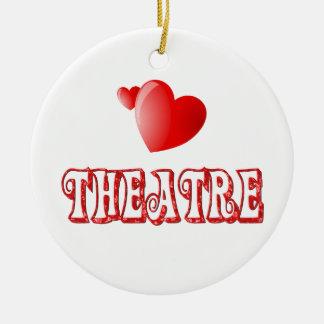 Theatre Hearts Christmas Ornaments