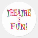 Theatre is Fun Classic Round Sticker