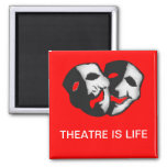 Theatre is Life 2 Inch Square Magnet