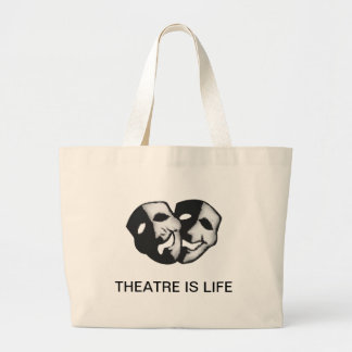 Theatre is Life Large Tote Bag