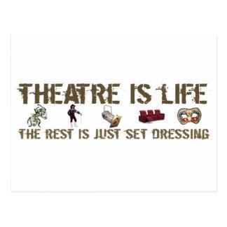 Theatre is Life Postcard
