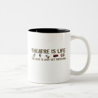 Theatre is Life Two-Tone Coffee Mug