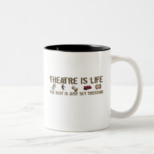 Theatre is Life Two-Tone Coffee Mug