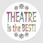 Theatre is the Best Round Stickers