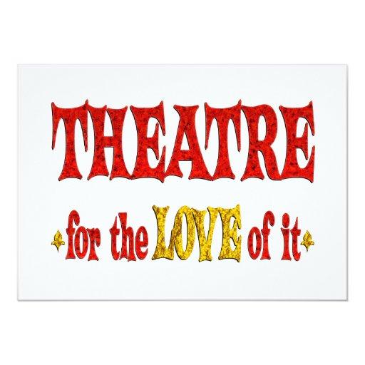 Theatre Love 5x7 Paper Invitation Card