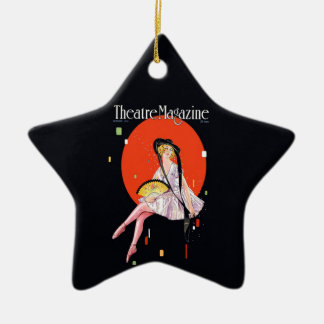 Theatre Magazine Cover 1921 Vintage Double-Sided Star Ceramic Christmas Ornament