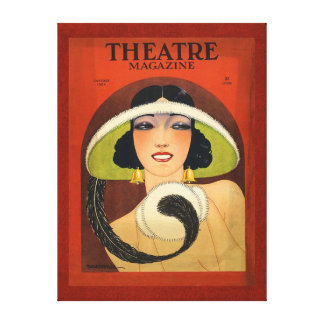 Theatre Magazine Cover 1924 Vintage Deco Canvas Print