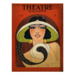 Theatre Magazine Cover 1924 Vintage Print
