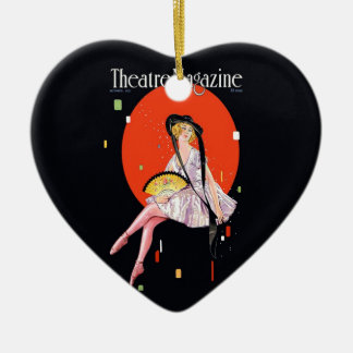Theatre Magazine Retro Cover 1921 Vintage Ceramic Ornament