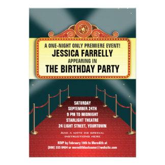 Theatre Marquee Party Invites