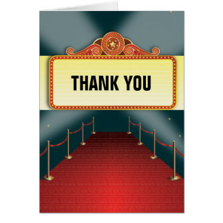 Theatre Marquee Party Thank You Cards