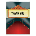 Theatre Marquee Party Thank You Greeting Card