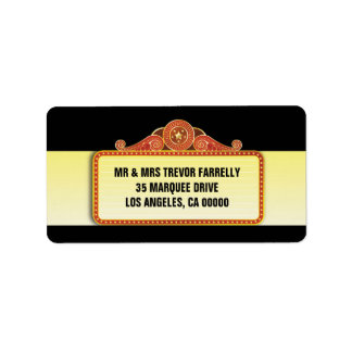 Theatre Marquee Return Custom Address Labels