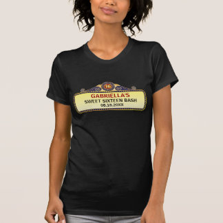 Theatre Marquee Sweet 16 Shirts