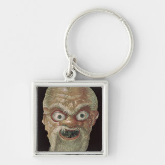 Theatre Mask, East Wall, Oecus 5, 60-50 BC Silver-Colored Square Keychain