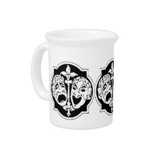 Theatre Masks Beverage Pitcher