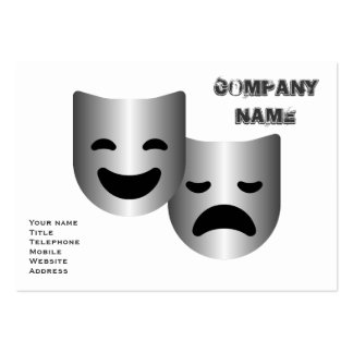 Theatre masks pack of chubby business cards