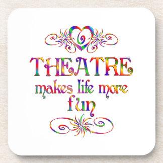 Theatre More Fun Drink Coaster