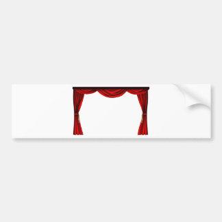 Theatre or cinema curtains bumper sticker
