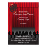 Theatre Performing Arts Comedy Stage Show Invite