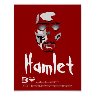 Theatre Play Poster Hamlet By William Shakespeare