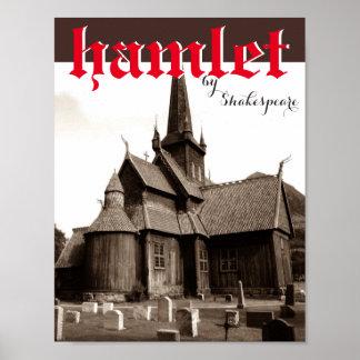 Theatre Play Poster Hamlet Graveyard Shakespeare