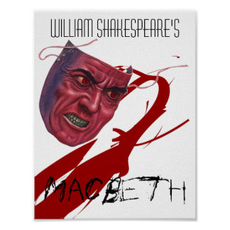 Theatre Play Poster Macbeth By William Shakespeare