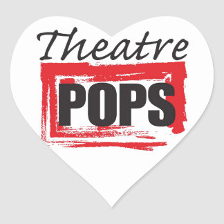 Theatre Pops goodies Heart Sticker