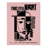 Theatre Poster Twelfth Night William Shakespeare