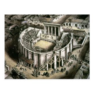 Theatre reconstruction, Roman 2nd century Postcard