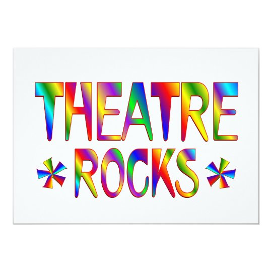 Theatre Rocks Card