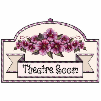 """Theatre Room"" - Decorative Sign - 38 Cutout"