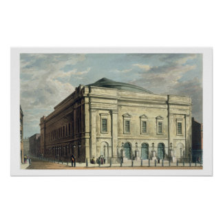 Theatre Royal, Drury Lane, in London, designed by Poster