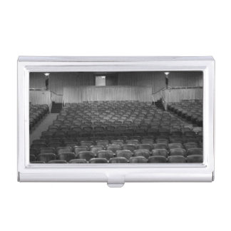 Theatre Seats Black White Business Card Holders