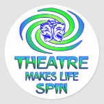 Theatre Spins Classic Round Sticker