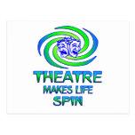 Theatre Spins Postcard