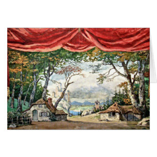 THEATRE STAGE BACKDROP DECOR, BALLET GISELLE GIFT CARD