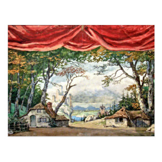 THEATRE STAGE BACKDROP DECOR, BALLET GISELLE GIFT POSTCARD