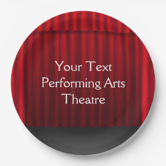 Theatre Stage Curtain Celebration Stage Party PP Paper Plate