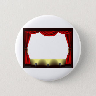Theatre stage pinback button